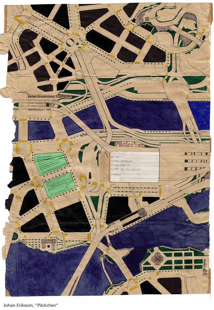 Packchen, 2003, 44 x 32 cm, blyerts och tusch