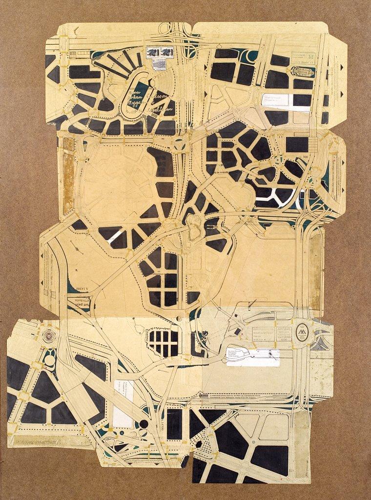 Coombelands, 2009, 105 x 56 cm, blyerts och tusch