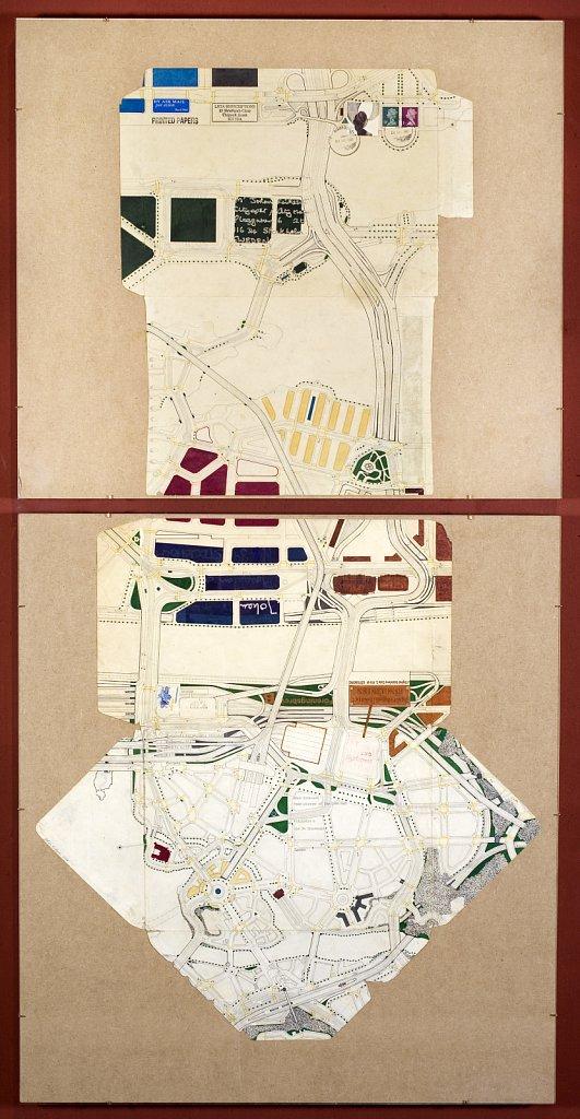 Head-planner Polggatan, 2009, 105 x 56 cm, blyerts och tusch