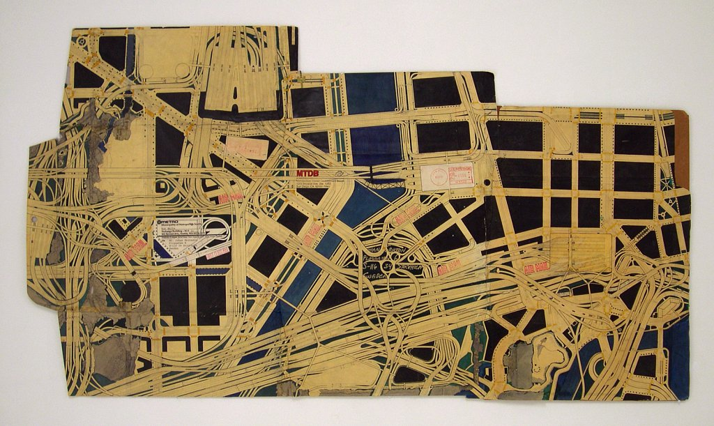 Air Mall, 2002, 60 x 108 cm, blyerts och tusch