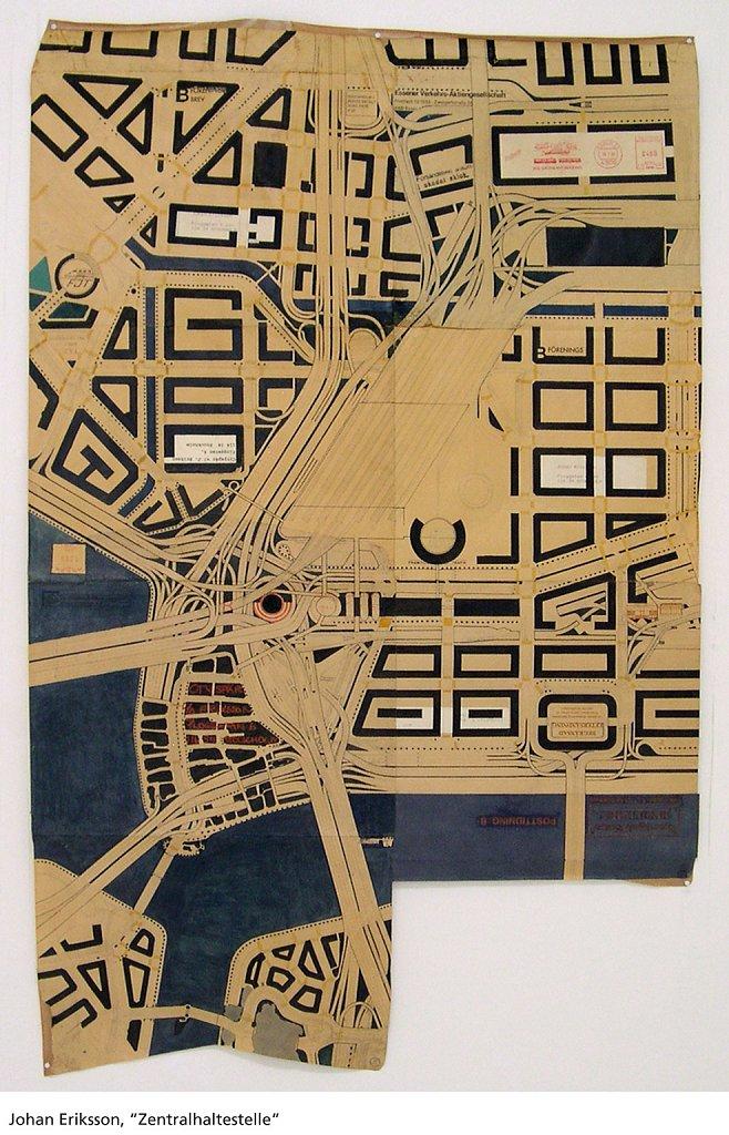 Zentralhaltestelle, 2001, 94 x 60 cm, blyerts och tusch