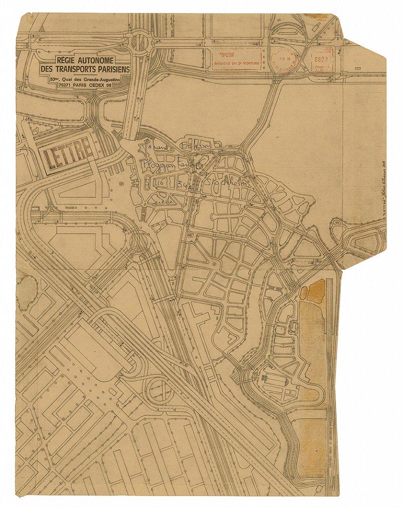 Lettre, 2011, 48 x 37 cm, blyerts